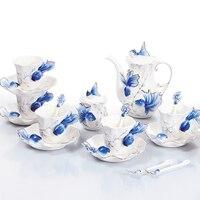 Эмаль xuanjin 21 глава Золотая рыбка кофейные сервизы Творческий чашки кофе чай чайник чашка Европейский ручная роспись