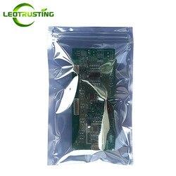 Leotrusting 50pcs Anti Static Shielding Zipper Bag ESD Anti-static Instruments Pack Bags Waterproof Self Seal Antistatic Bag
