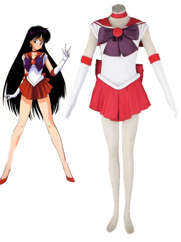 Бесплатная доставка Сейлор Мун Сейлор Марс Хино Rei борьба форма аниме Косплэй костюм
