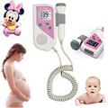 New Fetal Doppler 2.5MHz Probe LCD Ultrasound Prenatal Detector Fetal Baby Heart Rate Monitor Pink Portable LCD Fetal Doppler