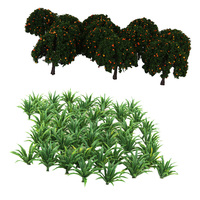 70X Mini Fruits Tree&Grass Model Plastic 1/100 200 Sacle Layout for Diorama Architecture Scenery