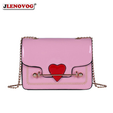 купить Girls Cute Heart  Bag Pink Crossbody Bao Bao Bag Fashion Designer Shoulder Handbag for Women 2019 Mini Black White Messenger Bag онлайн