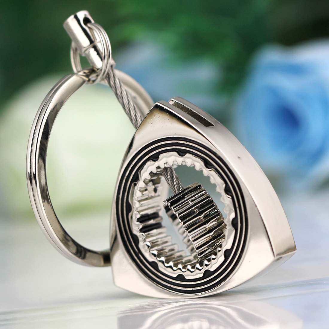 Dönər Rotor Anahtaraqlı Cilalanmış Gümüşü Auto Parça - Avtomobil daxili aksesuarları - Fotoqrafiya 2