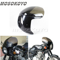 ABS Plastic Smoke Motorcycle 7 Headlight Fairing for Yamaha XS XJ Suzuki GS GT Honda CB GL 125 250 400 650 Universal