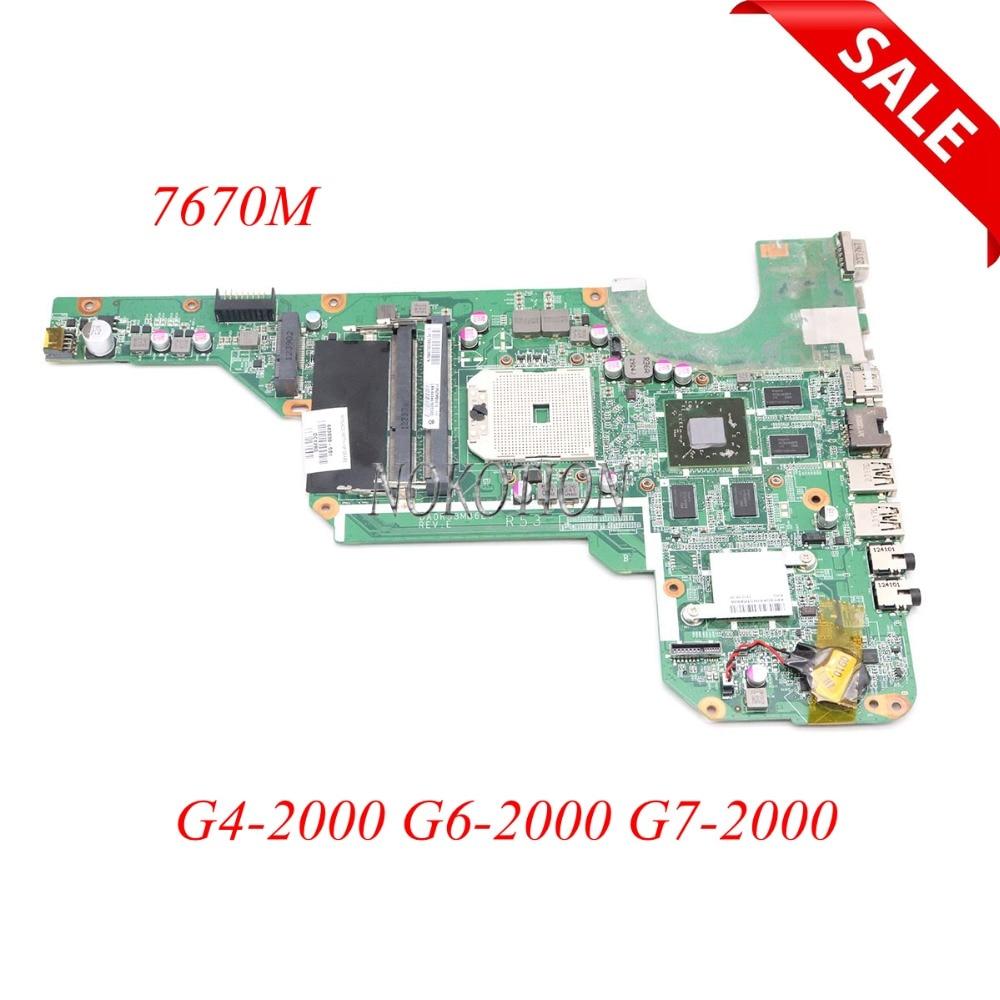 683030-001 683030-501 683031-001 DA0R53MB6E0 DA0R53MB6E1Laptop Motherboard Para Hp G4 G6 G4-2000 G6-2000 G7 G7-2000 7670 m de trabalho