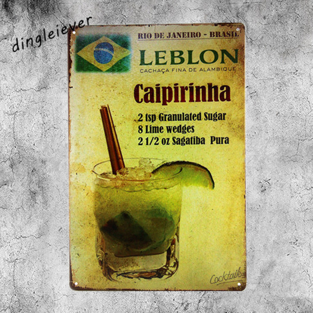 Caipirinha Lebon Vintage Metal Sign Wall Sticker For Drink bar Pub ...