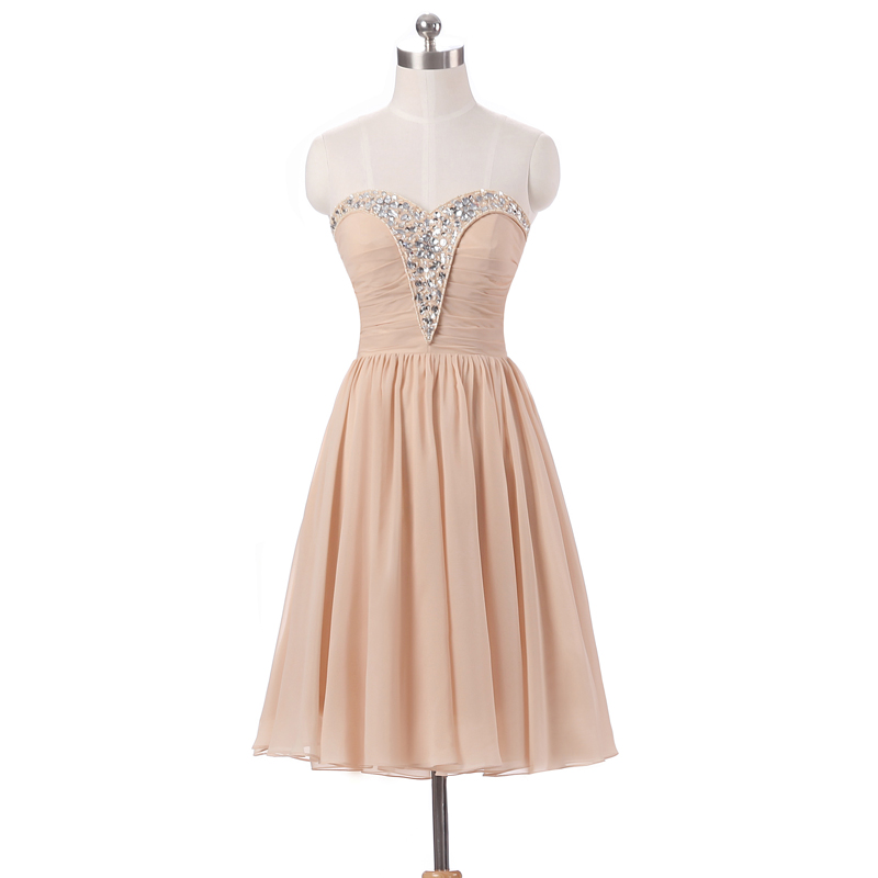 Champagne Bridesmaid Dresses Short Country Formal Dresses Wedding ...