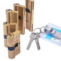 Дверной цилиндр Смещенный замок 65 70 80 90 115 мм цилиндр AB ключ Противоугонный вход латунный дверной замок удлиненный сердечник расширенные кл...