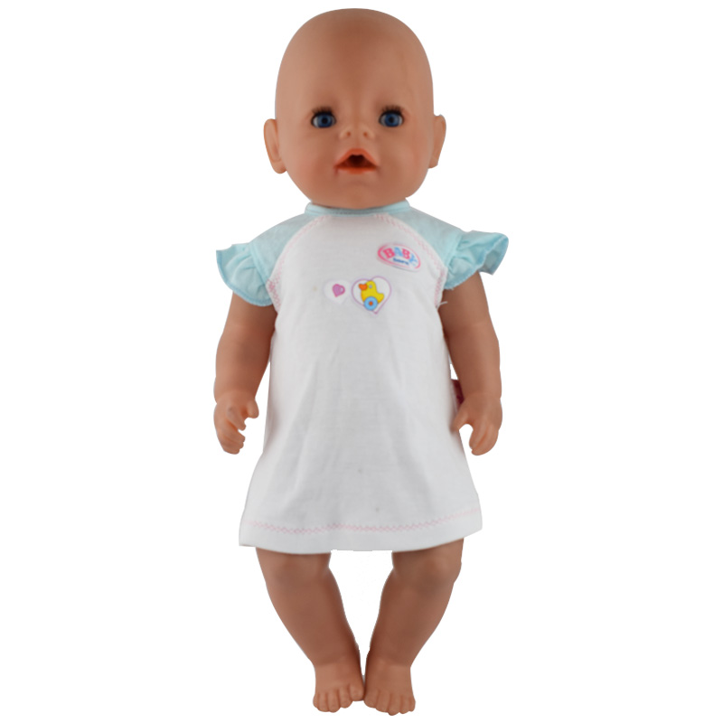Hot Fashion Dress Doll Clothes Wear Fit For 43cm/17inch Baby Doll, Children Best Birthday Gift(only Sell Clothes)