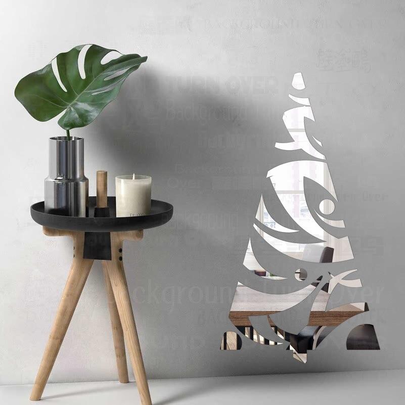Us 61 50 Offnowoczesne Boże Narodzenie Drzewa 3d Dekoracyjne Lustro Naklejki ścienne Salon Sypialnia Płytki Płytka Dekoracyjna Drzwi Kuchni