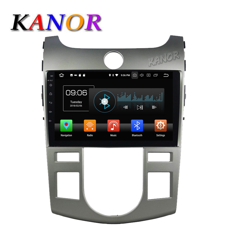 Android 8.0 octa core IPS car dvd player GPS navigation car stereo 9 inch 1024*600 for kia forte cerato 2009 2010 2011 2012 mydean 3038ac для kia cerato 2009 2012 с кондиционером