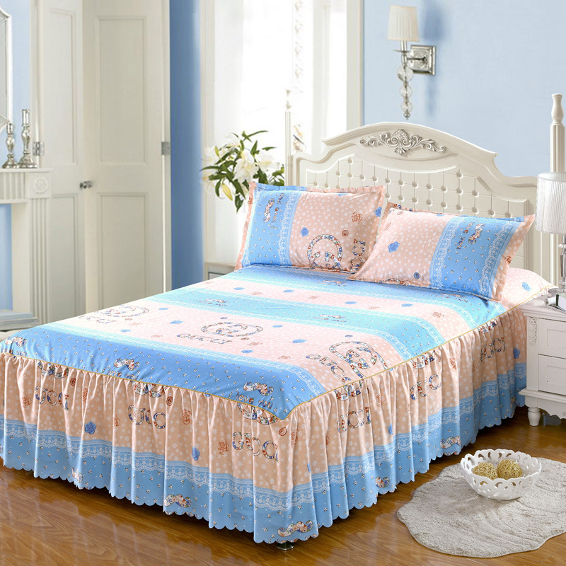 Bed Cover Thick Bed Skirt With Pillowcase Non-slip  Bedspread  Luxury Bedspreads  Bed Spread  Bed Skirt King Size