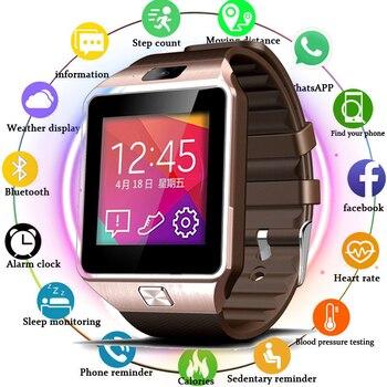 88c63a179d18 Reloj inteligente V8 hombres Bluetooth relojes deportivos mujeres Rel gio  Smartwatch con cámara ranura para tarjeta Sim Android Teléfono PK GT08 Y1 A1