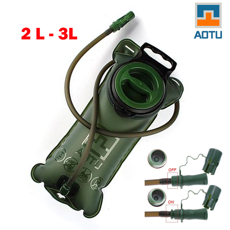 Hot Sale 2L TPU Bicycle Mouth Sports Water Bag Bladder Hydration Camping Hiking Climbing Military Green camelback Good Quality cheap sale hydration water bladder bag cleaning tube hose sucker brushes drying rack set