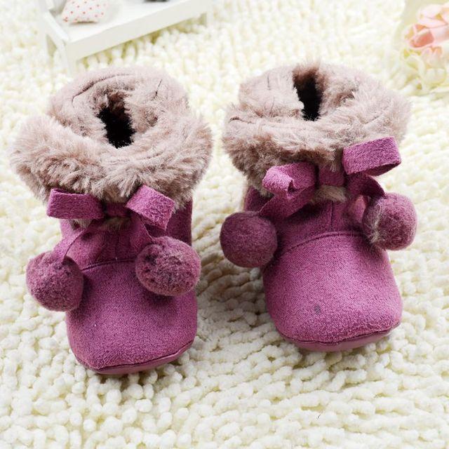 Лук Детская Обувь 2016 Новый Ребенок Сапоги Мило детская Обувь обувь Для Девочек Фиолетовый Maomao мяч Милые дети обувь Лук Ребенка обувь