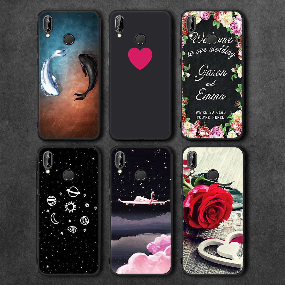 Matte TPU Pattern Case For Huawei P20 Lite Pro Mate 10 Pro P10 P9 P8 Lite 2017 Y9 2018 Enjoy 8 Plus For Honor 9 Lite Phone Case