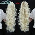 Сури Волосы Коготь Клип на Поддельные Волосы хвост Длинные Вьющиеся Волосы Расширение Хвост Для Женщин Длинные Ponytail Шиньоны Синтетические волос