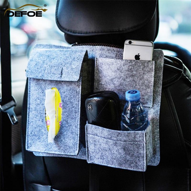 storage box car organizer seat bag Tissue Paper Box Holder back Multifunction vehicle