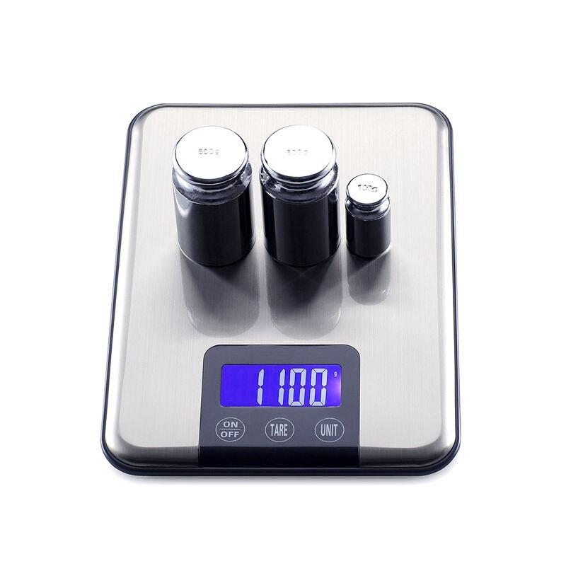 5 키로그램 * 1 그램 큰 슬림 주방 저울 스테인레스 스틸 최대 용량 5 키로그램 디지털 식품 무게 균형 전자 규모 뜨거운 판매