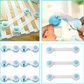 10 unids Plástico de Seguridad Del Bebé Bloqueo de La Puerta Cajones Armario Toddler Kids Cubierta de Seguridad Azul