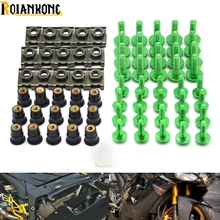 40 PIECES Motorcycle accessories fairing screw bolt windscreen screw For Kawasaki Ninja ZX6 ZX6R ZX7R ZX9R ZX12R ZX14R ZX500R jyf new candy colors lovely sexy bra sets one piece seamless women underwear and 1 2 b cup comfortable hollow push up bra set