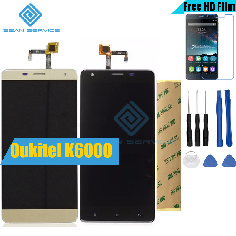 For Oukitel K6000 Original LCD in Mobile phone LCD Display and TP Touch Screen Digitizer Assembly