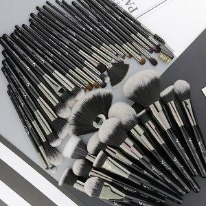 Image 2 - BEILI doğal siyah 40 makyaj fırçası seti vakfı pudra kapatıcı kaş göz farı güzellik profesyonel makyaj fırçaları