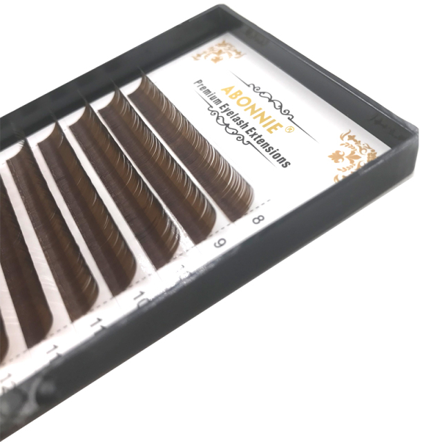 0.07/0.10 C D False Eyelashes Individual Eyelash Extension Color Fake Eye Lashes Mink Eyelash Extension 100% real Dark Brown 3
