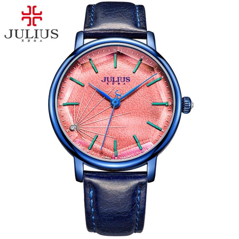JULIUS JA-888 Kvinnors snygga Spider-Wed Textur Quartz Klocka Kvinnlig Mode Casual Armbandsur Vintage Clock Gold Design Montre