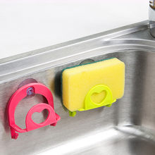 Cute Sponge Holder Suction Cup Convenient Home Kitchen Holder Tools Gadget Decor(China)