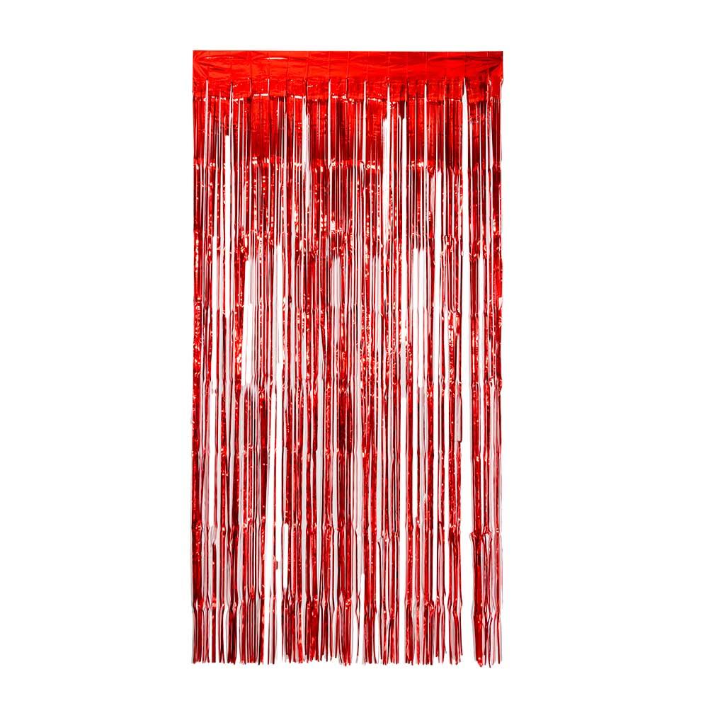 Rojo Negro flecos metalizados papel de plata Tinsel cortina con purpurina borla brillo fotografía telón de fondo boda fiesta decoración de la pared Reloj de pared Vintage decoración del hogar resina Chef reloj estatua reloj de cuarzo mudo para sala de estar cocina decoración de pared colgante reloj