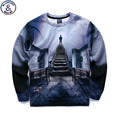Mr.1991 new youth fashion Spring and Autumn thin sweatshirts girls big kids funny 3D Magcal galaxy printed jogger hoodies boy W4