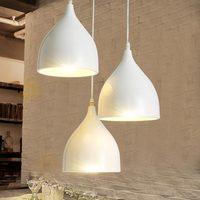 E27 Vintage Lamps Industrial Pendant Light Dining Room Kitchen Restaurant Decor White Aluminum Home Lighting Fixtures 110 220V