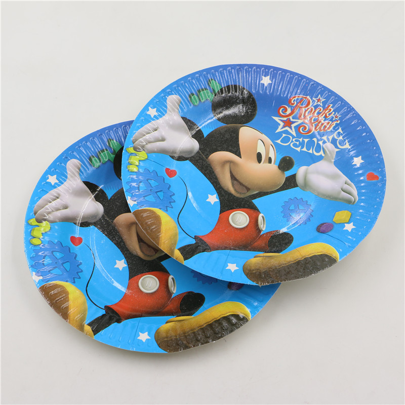 12 unids/lote festival de dibujos animados mickey mouse theme fiesta de proveedo