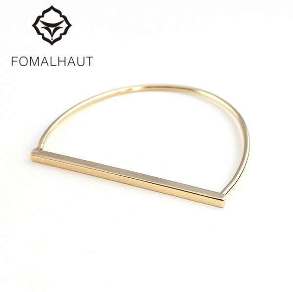 FOMALHAUT Fashion Simple plated Gold Simple semicircl bracelets & bangles for women XX-65