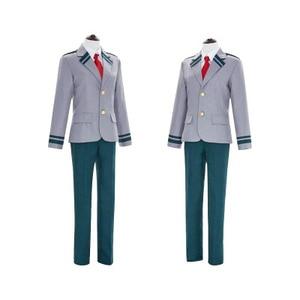 Boku no Hero Academia AsuiTsuyu Yaoyorozu Momo mundurek szkolny My Hero Academia OCHACO URARAKA Midoriya Izuku przebranie na karnawał peruka