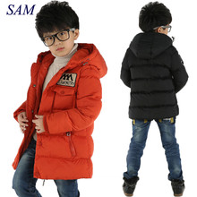 Зимняя куртка для мальчиков, детская зимняя куртка для мальчиков, Повседневная теплая куртка с капюшоном, Детская верхняя одежда, модная парка для мальчиков