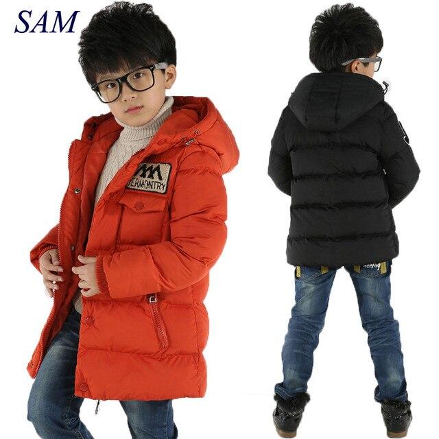 Зимнее пальто для мальчиков, Детские Зимние куртки для мальчиков, повседневное теплое пальто с капюшоном, одежда для малышей, модная верхняя одежда, парка для мальчиков, куртка