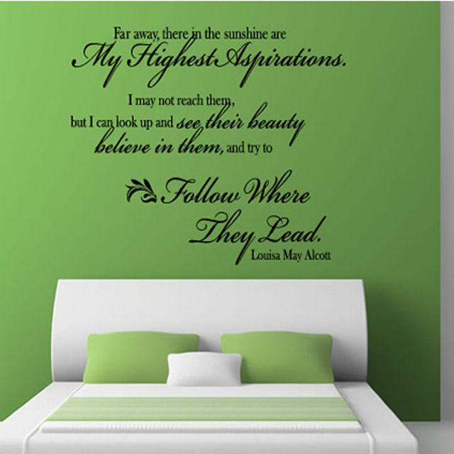 diy verwijderbare mooie art woorden engels tekst home decor sticker voor slaapkamer