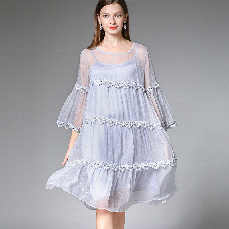823051905aca Abito Affari Signora 4xl Spiaggia Vestito Dimensioni Femme Partito Della  Purple Lavoro Di Grandi Viola Donne Boemia Elegante ...