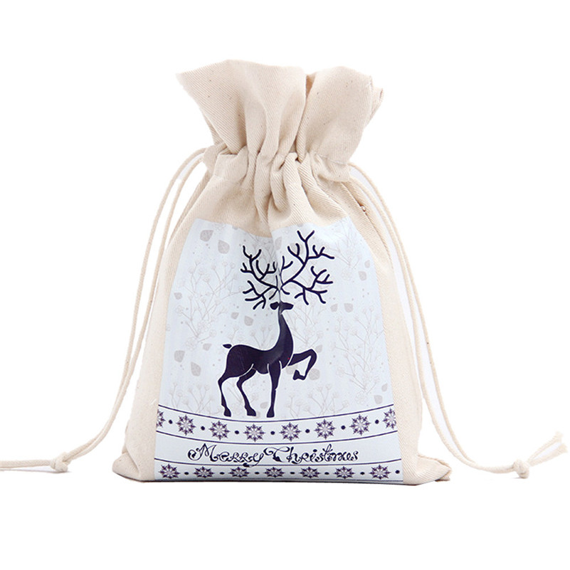 Drawstring Bags Christmas Small Gift Bags Printing Drawstring Beam Port font b Storage b font Gift