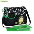 2016 New Animal Baby Diaper Bag Mummy Nappy Zebra Giraffe Baby boom Multifunctional Fashion Expectant Shoulder Bag
