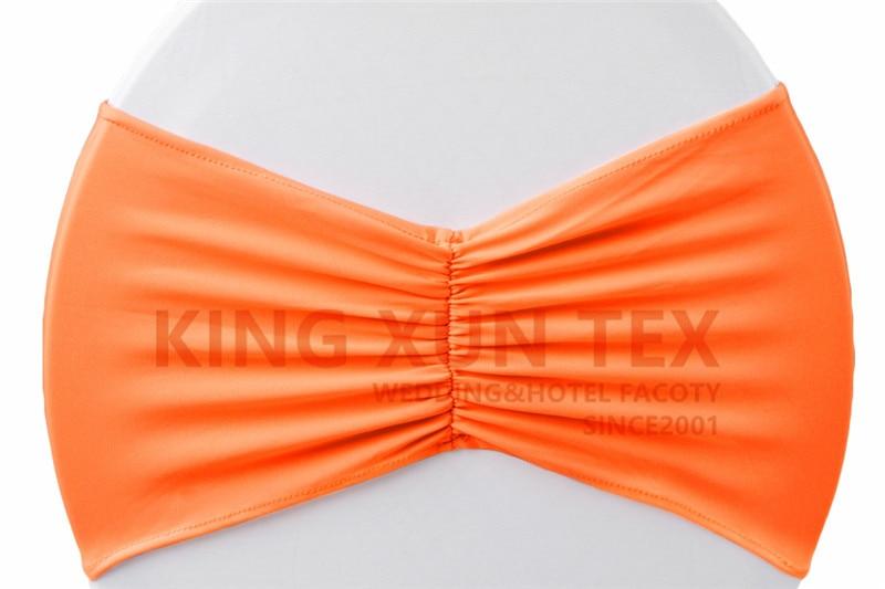 Задний гофрированный лайкровый стул полоса стрейч Подвязка из спандекса для стула подходит для свадьбы украшение для стула - Цвет: orange