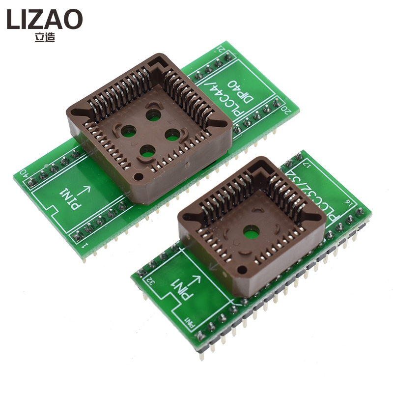 PLCC32 to DIP32 PLCC44 to DIP40 <font><b>USB</b></font> Universal Programmer IC Adapter Tester Socket for TL866CS <font><b>TL866A</b></font> EZP2010 G540 SP300 image