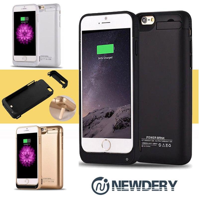 imágenes para NEWDERY 8200 5800 mAh Recargable Cargador de Batería de Reserva Externa de la Energía Bank Funda para el iphone 6 6 s Plus