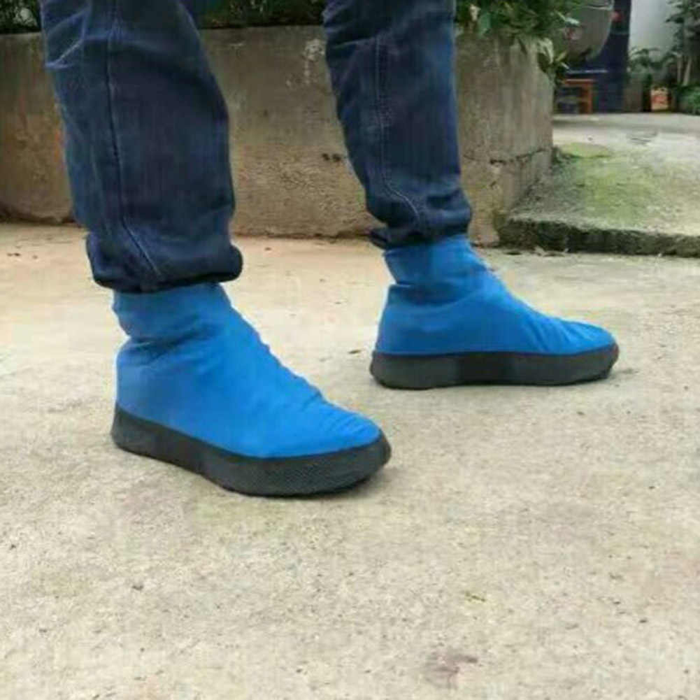 Demine Su Geçirmez Ayakkabı Kapağı Kauçuk Kalınlaşmak Yağmur Yeniden Kullanılabilir Esneklik Galoş kaymaz Bisiklet Çizme Koruyucu Kapakları Dropshipper