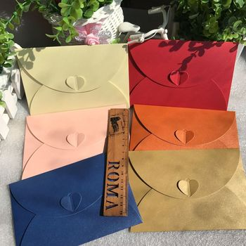 100Pcs Vintage Retro Small Colored Blank Paper Envelopes Wedding Invitation Envelope Greeting Cards Gift Envelope 17.5*11cm 1