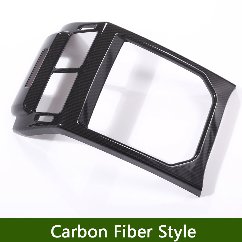 New! Carbon Fiber Style ABS Plastic Accessories For LandRover Range Rover Evoque 12-17 Rear Row AC Vent Outlet Frame Cover Trim carbon fiber style abs plastic for land rover range rover evoque 12 17 center console gear panel decorative cover trim newest