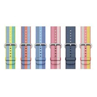 Sport Woven Nylon Band Strap For Apple Watch 42 Mm 38 Mm Wrist Braclet Belt Fabric