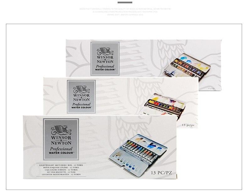 Aquarelle professionnelle WINSOR & NEWTON 12/24 couleurs peintre principal artiste pigment aquarelle solide spécial fabriqué en france - 6